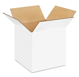 101010W White Corrugated Boxes (10- x 10- x 10-)