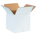 121212W White Corrugated Boxes (12- x 12- x 12-)