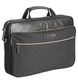 Eddie Bauer Laptop Briefcase - Soft Brown - Motion Systems