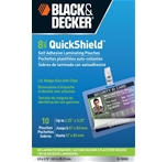 BLACK + DECKER QuickShield Self-Adhesive ID Badge Pouches, 8-mil, 10 Pack (ID-10HSS)