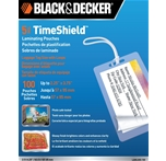 BLACK + DECKER TimeShield Thermal Laminating Pouches, Luggage Tag with Loops, 5 mil - 100 Pack (LAMLUG5-100)