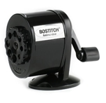 Stanley Bostitch Metal Antimicrobial Manual Pencil Sharpener, Black (MPS1-BLK)
