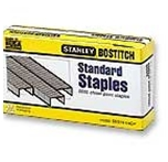 Bostitch Premium Standard Staples, 0.25 Inch Leg, Full-Strip, 5,000/Box, 3 Boxes per Pack (SB35-3SW)