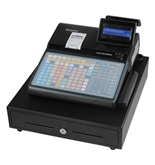 SAM4s ER-920 Electronic Cash Register, Elegant and Compact Design, MSR and Thermal Receipt Printer, 150 Keys Flat Keyboard, 16 Character Two-line Display, Black