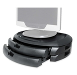 LCD Stand, 2 drawers, Black