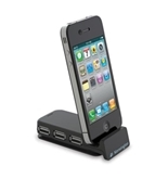 Kensington Pocket Hub 3-Port USB and Sync Travel Hub for iPod and iPhone