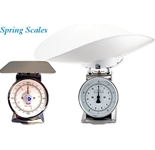 Spring Scale Painted Body 22-lb Spring Scale, 8- Dial, 9-1/2- Square Platter