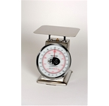 Spring Scale SS Body, Rotating Dial, Dashpot 2-lb. Spring Scale, Stainless Steel, 8- SS Platter