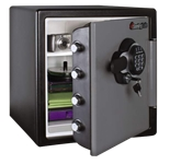 Extra Large Fire Safes Digital w/Backlite Keypad Dual Key - Fire, Water & Impact Resistant, 1.23 cu. ft.Model number-SFW123GSC