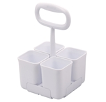 Stanley Removable 4 Cup Scissor Caddy, White (SCICAD)