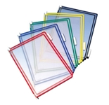 FoldFive Pockets, 5 Pocket Per Pack, Assorted Colors, Holds 50 sheets