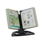 Black Line Desk Set, Black/Green Pockets