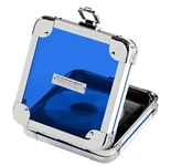 Vaultz Locking VZ00100 CD Wallet - 24 Capacity - Acrylic Blu