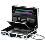 Vaultz Locking VZ01216 Laptop Briefcase - Black