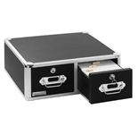 Vaultz Locking VZ01395 Index Card Cabinet Double Drawer - Black