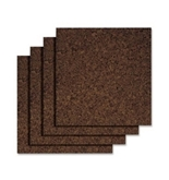 Quartet Dark Cork Tiles, 12 x 12 Inches, Self-Adhesive, 4 Tiles per Pack (15050Q)