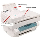 Xerox XE90 Multifunction Laser, 8ppm Copier/Scanner, Retail