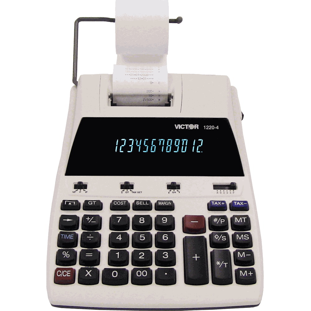 victor 1220 4 12 digits 2 color printing calculator With printing calculator with letters