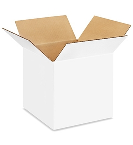 "101010W White Corrugated Boxes (10"" x 10"" x 10"")"