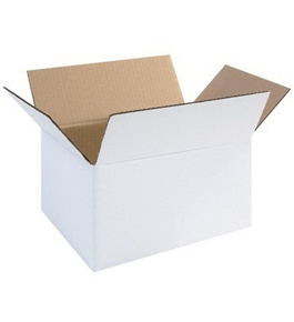 "1186RW White Corrugated Boxes (11 1/4"" x 8 3/4"" x 6"")"