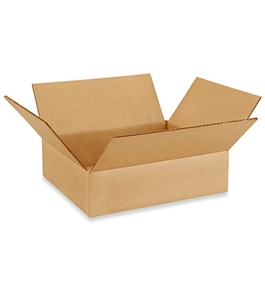 "12103 Flat Corrugated Boxes (12"" x 10"" x 3"")"