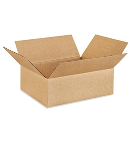 "12104 Flat Corrugated Boxes (12"" x 10"" x 4"")"