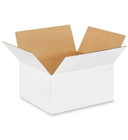 "12106W White Corrugated Boxes (12"" x 10"" x 6"")"