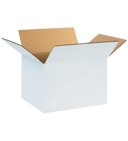 "12108W White Corrugated Boxes (12"" x 10"" x 8"")"
