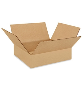 "12123 Flat Corrugated Boxes (12"" x 12"" x 3"")"