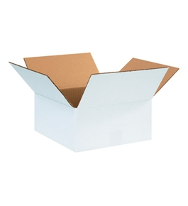 "12126W White Corrugated Boxes (12"" x 12"" x 6"")"