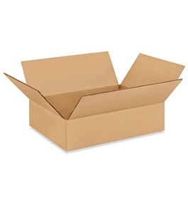 "1293 Flat Corrugated Boxes (12"" x 9"" x 3"")"