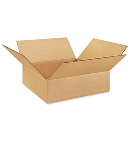 "13134 Flat Corrugated Boxes (13"" x 13"" x 4"")"