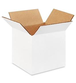 "555W White Corrugated Boxes (5"" x 5"" x 5"")"