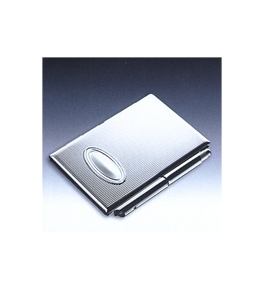 Blomus Silver Pocket Memo Pad with Pen