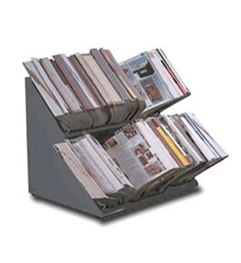 Double Deck Countertop Catalog Rack 36 Quot Steel Gray New