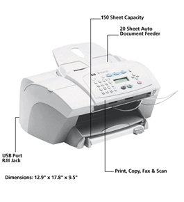 HP OfficeJet V40-R Printer 2400-dpi Color Multi