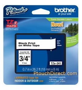 Brother TZ641 3/4 Inches Black On Yellow P-touch Tape
