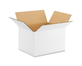 "1086W White Corrugated Boxes (10"" x 8"" x 6"")"