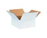 12126W White Corrugated Boxes (12- x 12- x 6-)