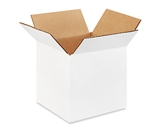 555W White Corrugated Boxes (5- x 5- x 5-)