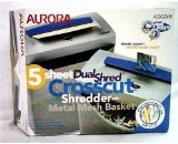 Aurora 5 Sheet Crosscut Paper Shredder new