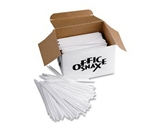 "Office Snax OFXSTR5 Plastic Stir Sticks 5"" Plastic White"